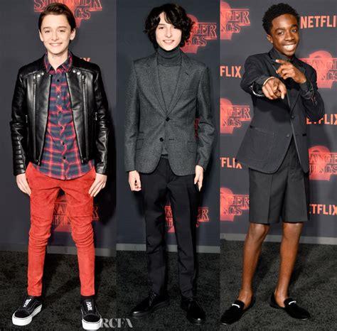 Golden Globe Red Carpet Fashion by Stranger Things Season 2 Premiere 3 Red Carpet Fashion