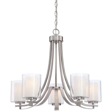 minka chandelier minka lavery parsons studio 5 light brushed nickel