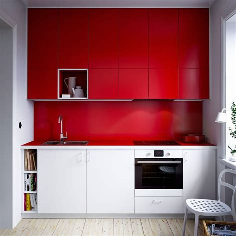 red and white kitchen cabinets compact modern ikea kitchen with combination of white and red cabinet doors and red laminate