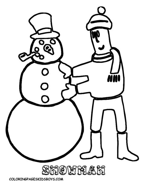 coloring pages book for kidsboys com snowmen and snowflakes coloring pages