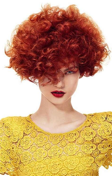 cool short red curly hair short hairstyles haircuts