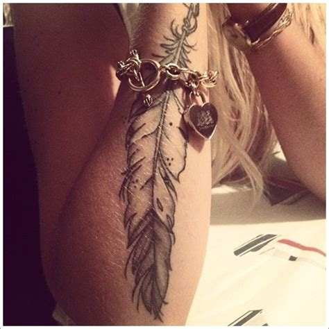 womens forearm tattoo designs 40 most popular feather tattoos for and