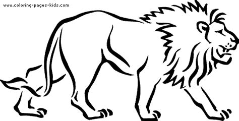 coloring pages lions tigers walking lion color page