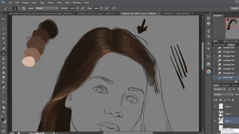 how to make doodle in photoshop how to draw hair in photoshop basic steps