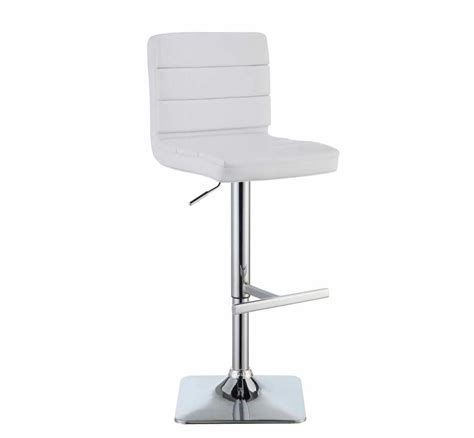 Modern White Bar Stool White Modern Bar Stool Co 694 Bar Stools