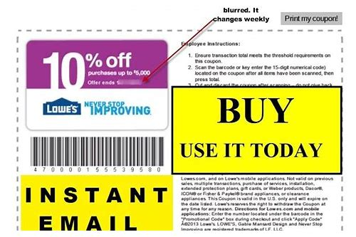 lowes movers coupon email