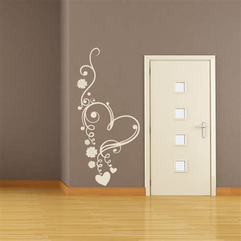 hearts wall stickers floral flowers wall sticker wall decal transfers ebay