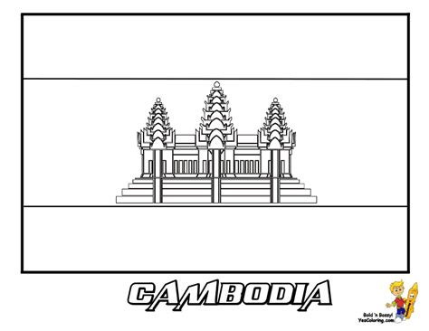 auspicious flags colouring nations of cambodia auspicious flags colouring nations of cambodia