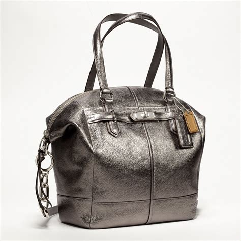 Coach Chelsea Vintage Leather Satchel by Coach New Chelsea Metallic Leather Emerson Satchel All