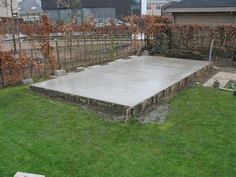 beton laten storten voor tuinhuis gvh bekistingen