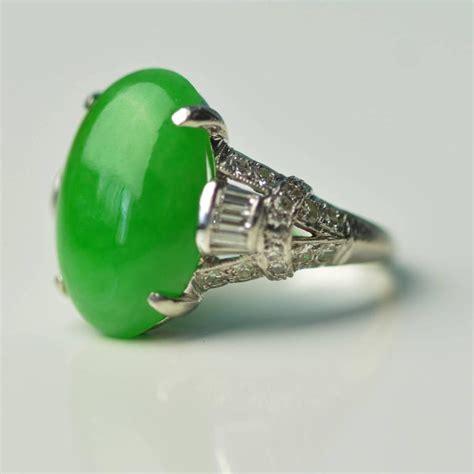 imperial jade antique imperial jade platinum ring at 1stdibs