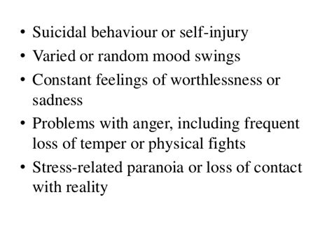 paranoia depression anxiety mood swings boderline personality disorder