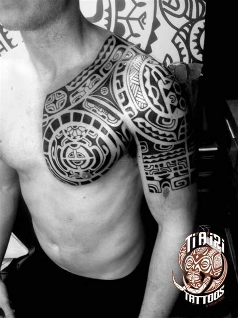 ti tattoos polynesian shoulder chest tattoos ti a iri polynesian