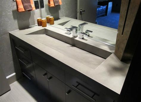 concrete bathroom countertop concrete counters how to decorate a bathroom 9 new
