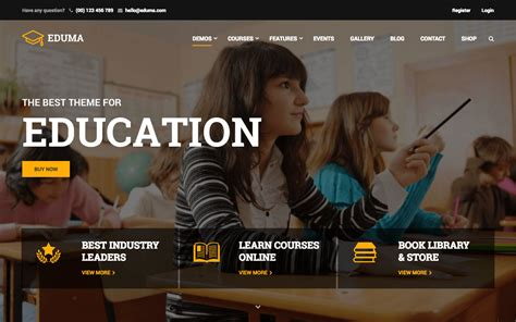 themeforest eduma top 5 best education wordpress themes for schools college
