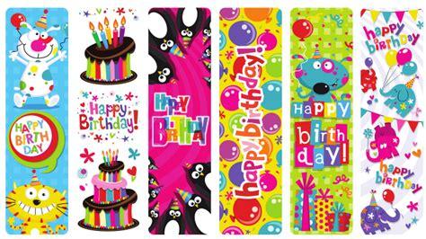 printable birthday bookmarks happy birthday bookmark shop geddes