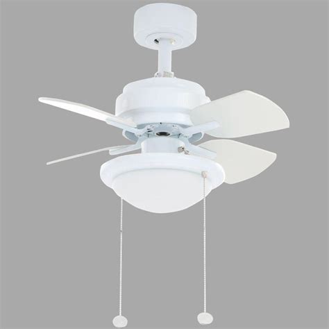Home Depot White Ceiling Fan With Light Hton Bay Metarie 24 In Indoor White Ceiling Fan With Light Kit Al508 Wh The Home Depot