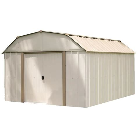 Lowes Storage Sheds Installed shop arrow galvanized steel storage shed common 10 ft x 14 ft interior dimensions 9 85 ft x