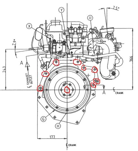 bolt pattern drawing ford bellhousing bolt pattern drawing