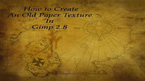 Make Paper Feel Like Money - how to create an paper texture in gimp 2 8