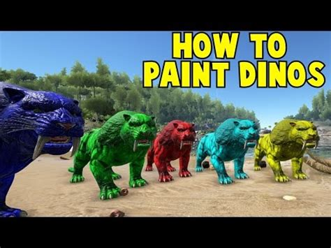 spray painter ark survival evolved how to paint dinos playark