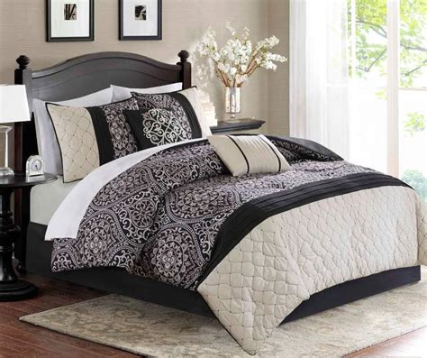 Black And Ivory Bedding Sets Aprima Dilan Black Ivory 10 Comforter Sets Big Lots