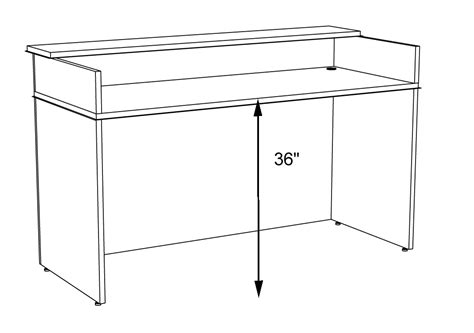 Classic Custom Standing Height Reception Desk 5 W Standard Desk Height