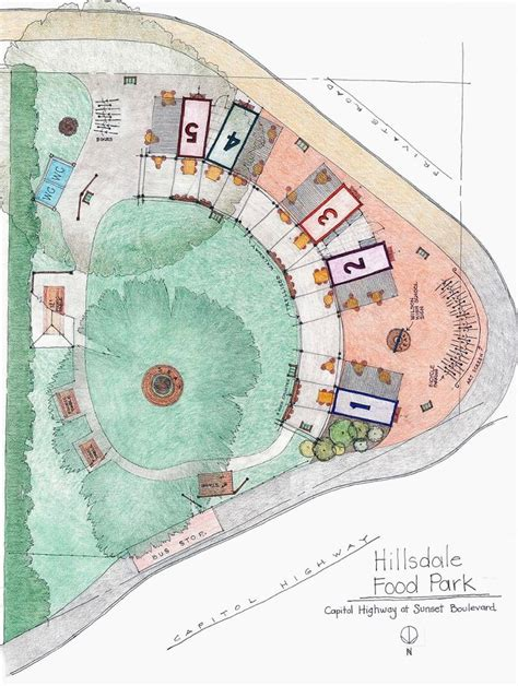 food court layout drawing food cart court plan unveiled debated at neighborhood
