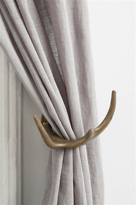 antler curtain tie backs magical thinking antler curtain tie back pinterest