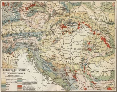 geological map of austria hungary 1905