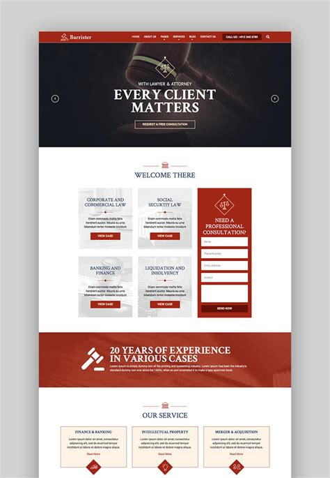 15 Top Responsive Html Lawyer Law Firm Website Templates Firm Responsive Website Template