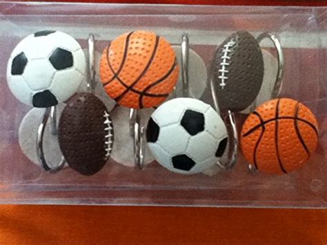 sports shower curtain hooks com sweet jojo designs all star sports kids