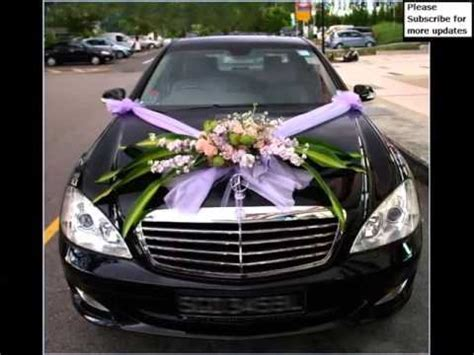 Simple Wedding Car Flowers   Pictures Of Car Decor   YouTube