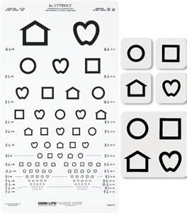 printable eye chart with instructions lea symbols proportional distance chart by good lite co