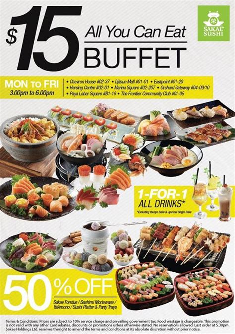time buffet sakae sushi 15 all you can eat tea time buffet