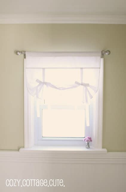 pattern for roll up shades tutorial how to sew a roll up ribbon tie curtain