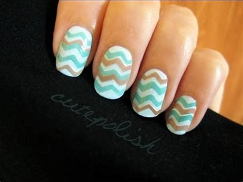 easy nail art chevron creative diy nail art designs that are actually easy