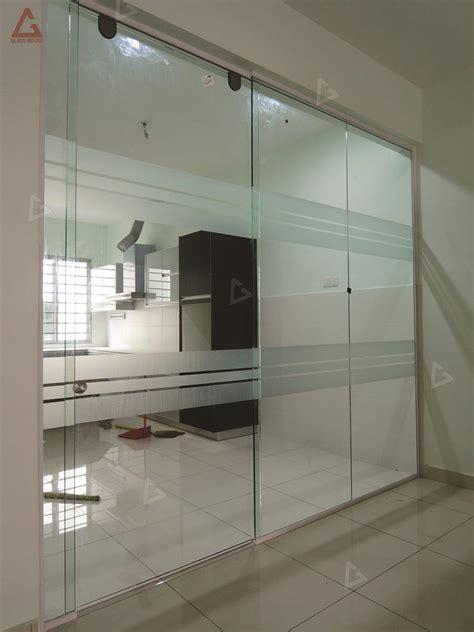 sliding door frameless sliding door glass house design