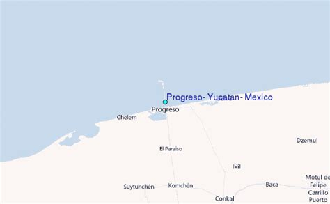 progreso mexico map progreso yucatan mexico tide station location guide