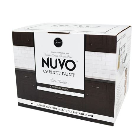 nuvo 2 qt cocoa couture cabinet paint kit fg nu cocoa r