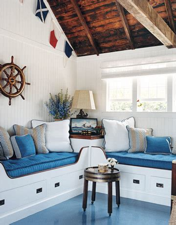 nautical theme room beam ceilings exposed