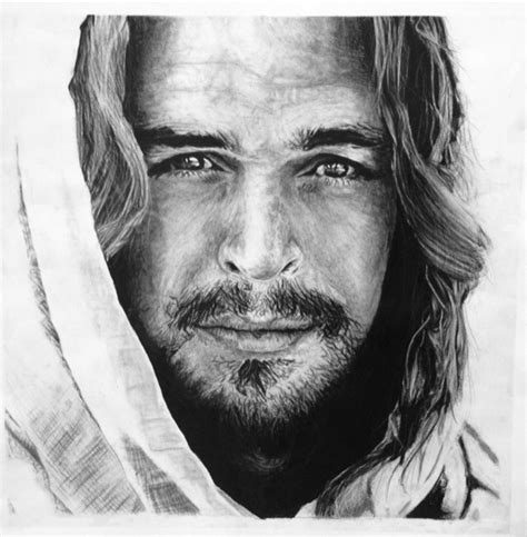 Black And White Drawings Of Jesus by On Canvas My Recovery