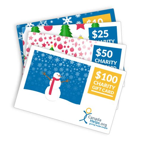 Charity Gift Cards Canada - oticon canadahelps donate to any charity in canada
