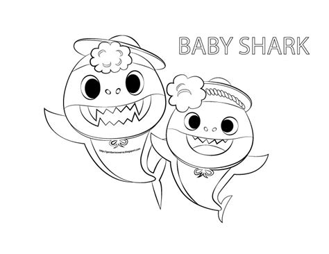 baby shark coloring page gambar mewarna colouring picture gambar mewarna baby shark
