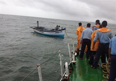 fishing boat cost in india watch how coast guard rescued two indian crew of fishing