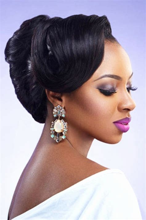 wedding hairstyles  black women african american