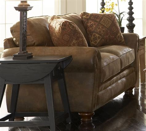 broyhill laramie microfiber sofa in distressed brown broyhill laramie sofa thesofa