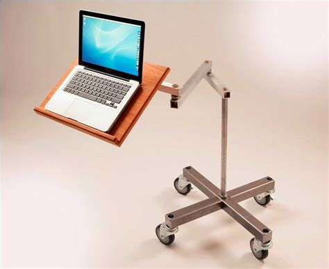 Recliner Laptop Desk Impressive Standing Movable Laptop Desk Design With Cantilevered Swings Away And Wheeled Legs