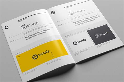10 Great Beautiful Brand Book Templates To Present Your Branding Projects Brand Book Template Free