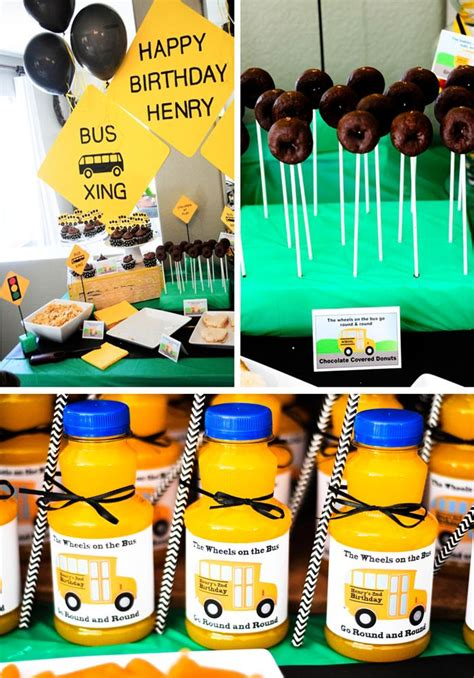 themed party bus kara s party ideas wheels on the bus party planning ideas